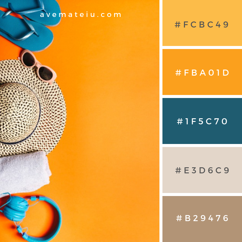 Summer Color Palette #5 - color combination, color inspiration, color palette, color palettes, color scheme, color schemes, design, Fashion, hex codes, pantone summer color palette, summer