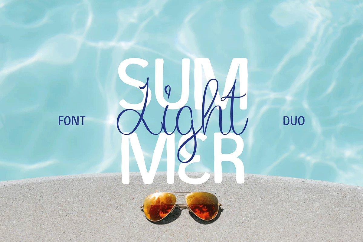Summer Light Font Duo + Logos - Art, Fonts and Calligraphy, Typography, Handwritten Fonts, Alphabet Fonts, Free Fonts, Script Fonts, Modern Fonts, Cursive Fonts, Design Fonts, Rustic Fonts, Calligraphy Fonts, Simple Fonts, Serif Fonts, Elegant Fonts, Professional Fonts, Beautiful Fonts