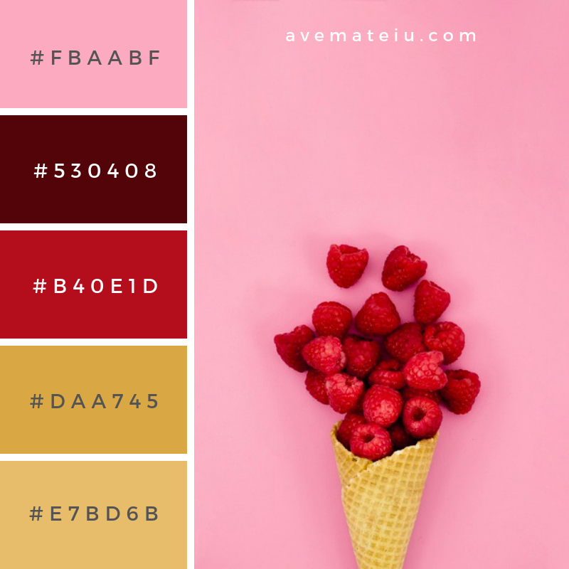 Raspberries in waffle cone for ice cream on light background. Color Palette #227 - Color combination, Color pallets, Color palettes, Color scheme, Color inspiration, Colour Palettes, Background, Food, Abstract, Design, Summer, Light, Pink, Fruit, Ice cream, Pink background, Flat, Decoration, Creative, Product, Dessert, Nutrition, Cream, Top view, Berry, Waffle, Cone, Flat lay, Raspberry, Composition, Raspberries