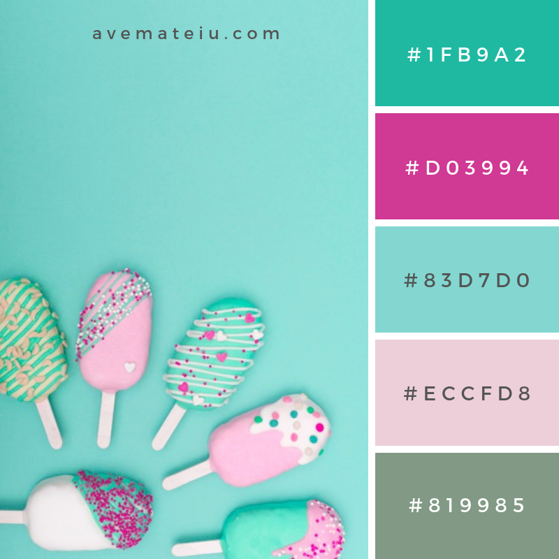 Creative cake pop concept. Color Palette #237 - Color combination, Color pallets, Color palettes, Color scheme, Color inspiration, Colour Palettes, Art, Inspiration, Vintage, Bright, Blue, Warm, Dark, Design, Yellow, Green, Grey, Red, Purple, Rustic, Fall, Autumn, Winter, Spring 2019, Nature, Spring, Summer, Flowers, Sunset, Sunrise, Pantone https://avemateiu.com/color-palettes/
