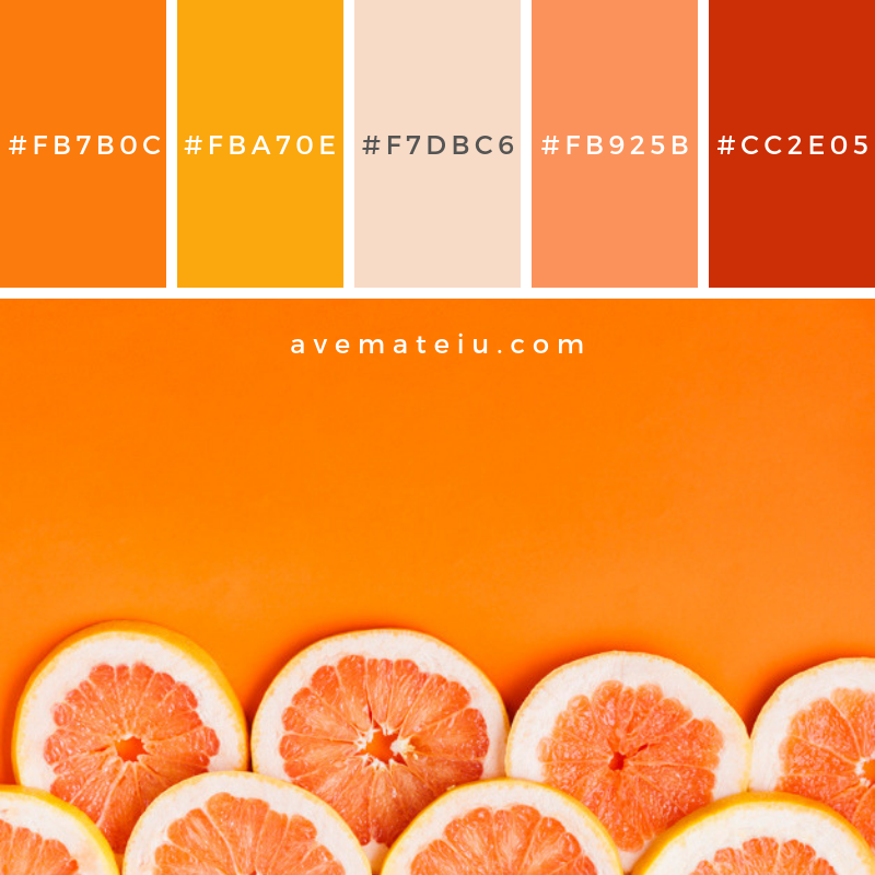 Grapefruit background with copyspace Color Palette #252 - Color combination, Color pallets, Color palettes, Color scheme, Color inspiration, Colour Palettes, Art, Inspiration, Vintage, Bright, Blue, Warm, Dark, Design, Yellow, Green, Grey, Red, Purple, Rustic, Fall, Autumn, Winter, Summer 2019, Nature, Spring, Summer, Flowers, Sunset, Sunrise, Pantone https://avemateiu.com/color-palettes/