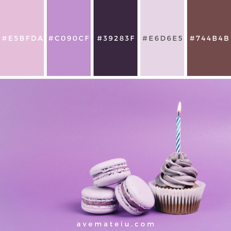 Macaroons near cupcake with candle Color Palette #284 - Color combination, Color pallets, Color palettes, Color scheme, Color inspiration, Colour Palettes, Art, Inspiration, Vintage, Bright, Blue, Warm, Dark, Design, Yellow, Green, Grey, Red, Purple, Rustic, Fall, Autumn, Winter, Summer 2019, Nature, Spring, Summer, Flowers, Sunset, Sunrise, Pantone https://avemateiu.com/color-palettes/