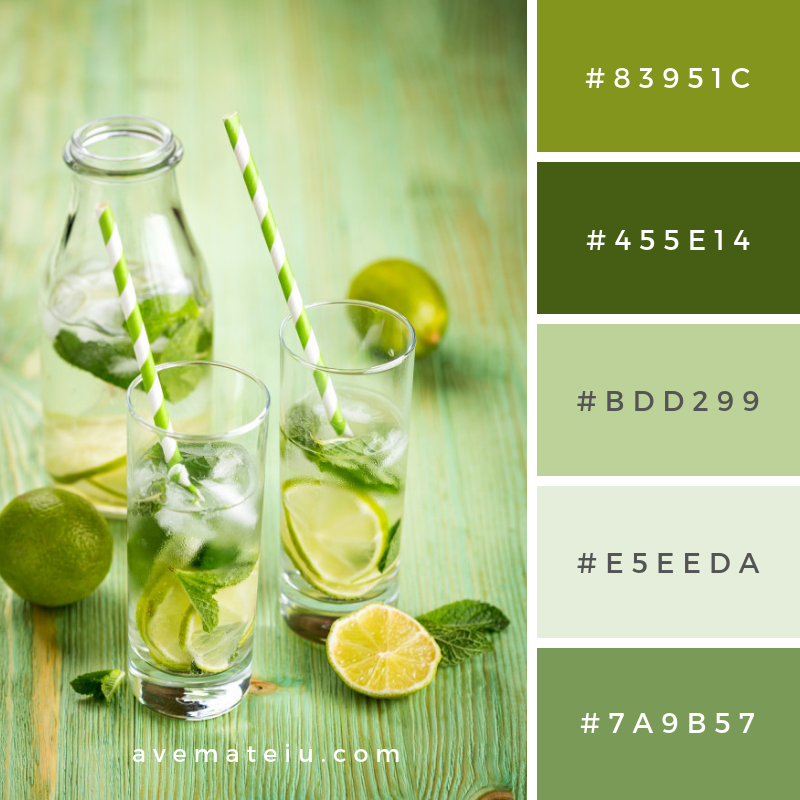 Lemonade drink on a wooden table Color Palette #289 - Ave ...