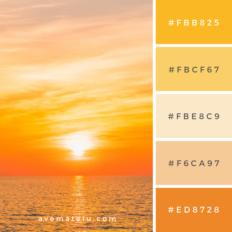 Water blue sunset filter beauty Color Palette #293 - Color combination, Color pallets, Color palettes, Color scheme, Color inspiration, Colour Palettes, Art, Inspiration, Vintage, Bright, Blue, Warm, Dark, Design, Yellow, Green, Grey, Red, Purple, Rustic, Fall, Autumn, Winter, Summer 2019, Nature, Spring, Summer, Flowers, Sunset, Sunrise, Pantone https://avemateiu.com/color-palettes/