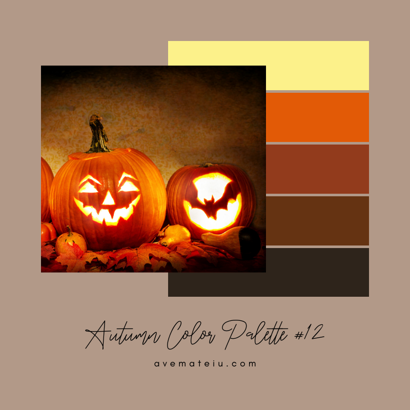 Autumn Color Palette 12 - Color combination, Color pallets, Color palettes, Color scheme, Color inspiration, Colour Palettes, Art, Inspiration, Vintage, Bright, Background, Warm, Dark, Design, Yellow, Green, Orange, Red, Purple, Rustic, Fall, Autumn, Thanksgiving, Autumn 2019, Nature, Seasonal, Wood, Wooden, Season, Natural