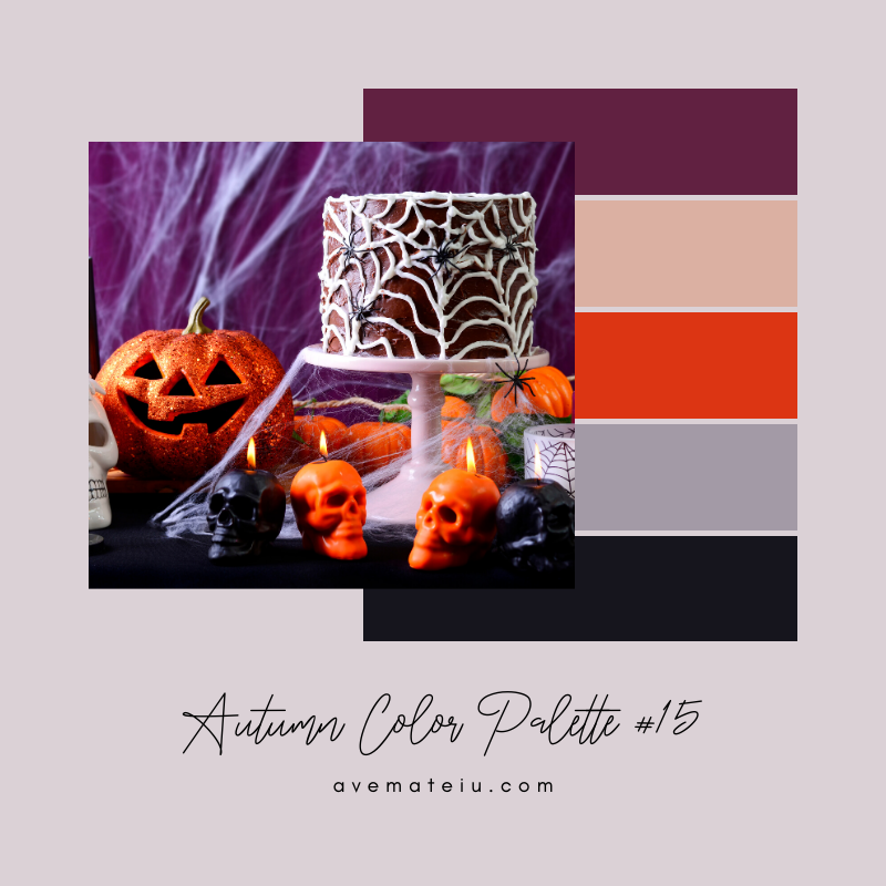 Autumn Color Palette 15 - Color combination, Color pallets, Color palettes, Color scheme, Color inspiration, Colour Palettes, Art, Inspiration, Vintage, Bright, Background, Warm, Dark, Design, Yellow, Green, Orange, Red, Purple, Rustic, Fall, Autumn, Thanksgiving, Autumn 2019, Nature, Seasonal, Wood, Wooden, Season, Natural