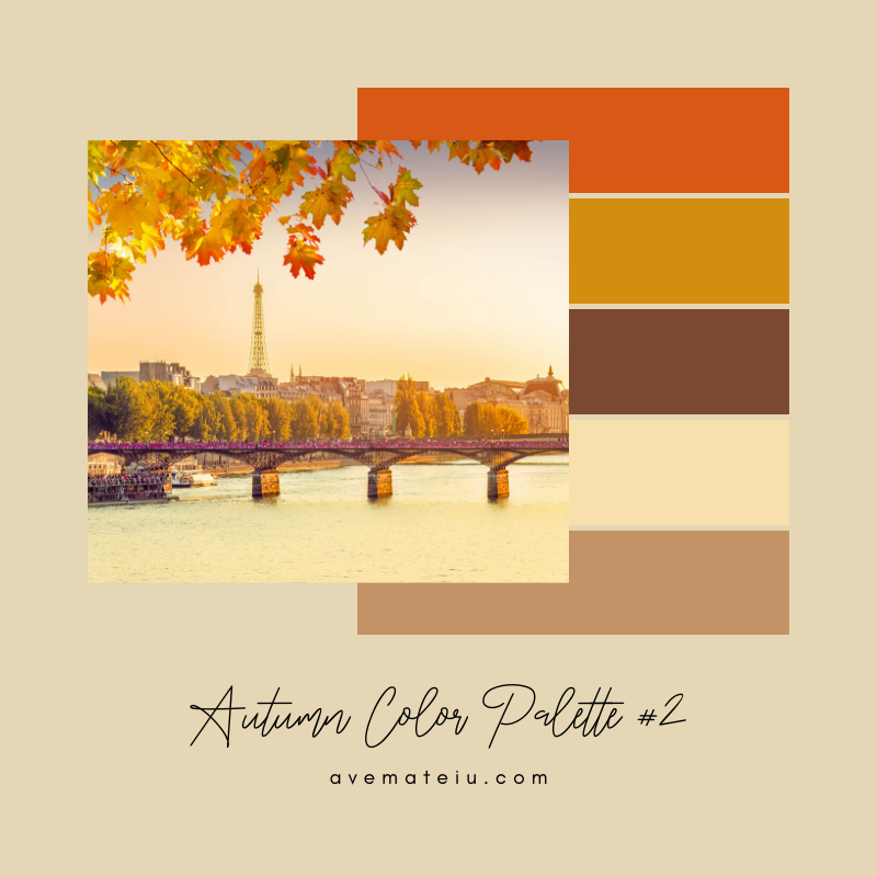 Autumn Color Palette 2 - Color combination, Color pallets, Color palettes, Color scheme, Color inspiration, Colour Palettes, Art, Inspiration, Vintage, Bright, Background, Warm, Dark, Design, Yellow, Green, Orange, Red, Purple, Rustic, Fall, Autumn, Thanksgiving, Autumn 2019, Nature, Seasonal, Wood, Wooden, Season, Natural