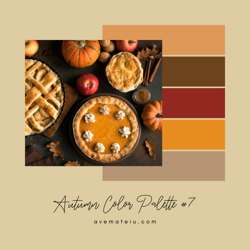 Autumn Color Palette 7 - Color combination, Color pallets, Color palettes, Color scheme, Color inspiration, Colour Palettes, Art, Inspiration, Vintage, Bright, Background, Warm, Dark, Design, Yellow, Green, Orange, Red, Purple, Rustic, Fall, Autumn, Thanksgiving, Autumn 2019, Nature, Seasonal, Wood, Wooden, Season, Natural