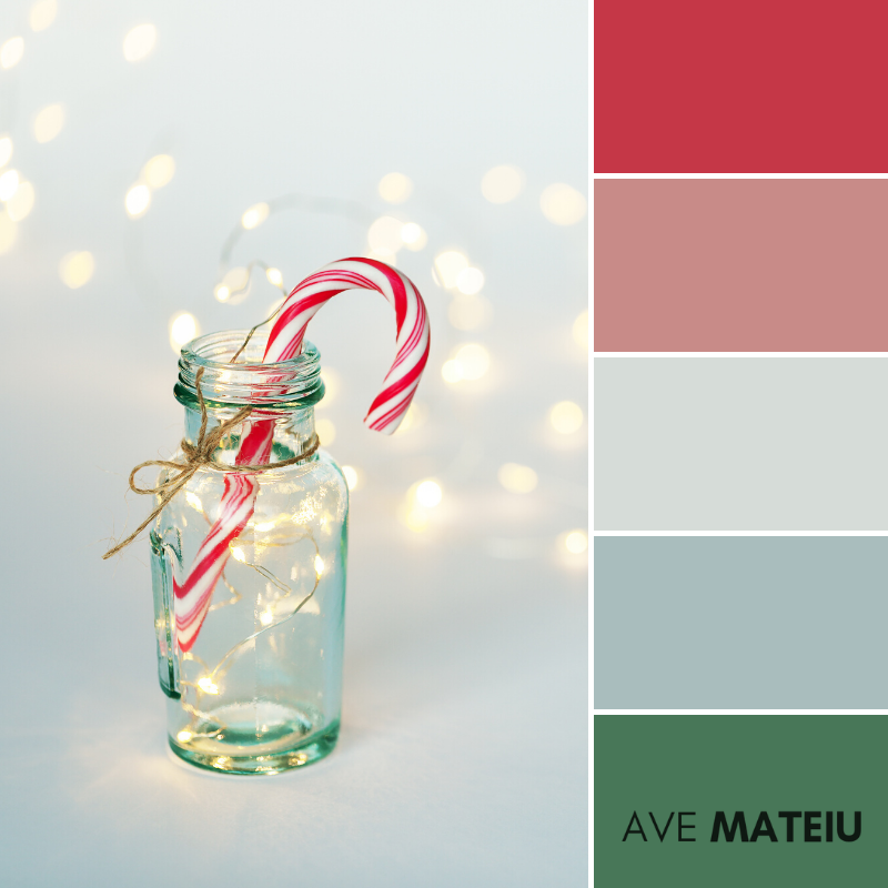 Christmas Background with Candy Cane and Christmas Light Color Palette 361 - Color combination, Color pallets, Color palettes, Color scheme, Color inspiration, Colour Palettes, Art, Inspiration, Vintage, Bright, Background, Warm, Dark, Design, Yellow, Green, Orange, Red, Purple, Rustic, Fall, Christmas, Thanksgiving, Christmas 2019, Nature, Seasonal, Wood, Wooden, Season, Natural
