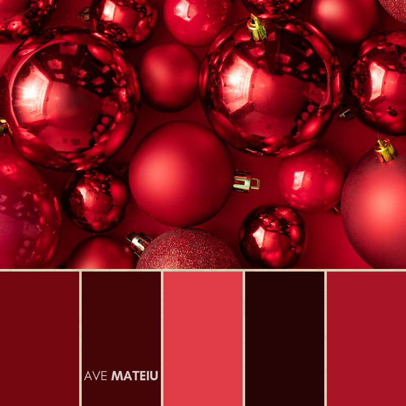 Christmas Color Palette #1 - Color combination, Color pallets, Color palettes, Color scheme, Color inspiration, Colour Palettes, Art, Inspiration, Bright, Background, Warm, Dark, Design, Yellow, Green, Orange, Red, Purple, Blue, Gold, Silver, Rose Gold, Rustic, Christmas 2019, Winter, Nature, Seasonal, Season, Natural