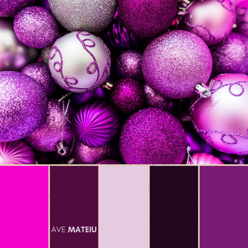 Christmas Color Palette #10 - Color combination, Color pallets, Color palettes, Color scheme, Color inspiration, Colour Palettes, Art, Inspiration, Bright, Background, Warm, Dark, Design, Yellow, Green, Orange, Red, Purple, Blue, Gold, Silver, Rose Gold, Rustic, Christmas 2019, Winter, Nature, Seasonal, Season, Natural