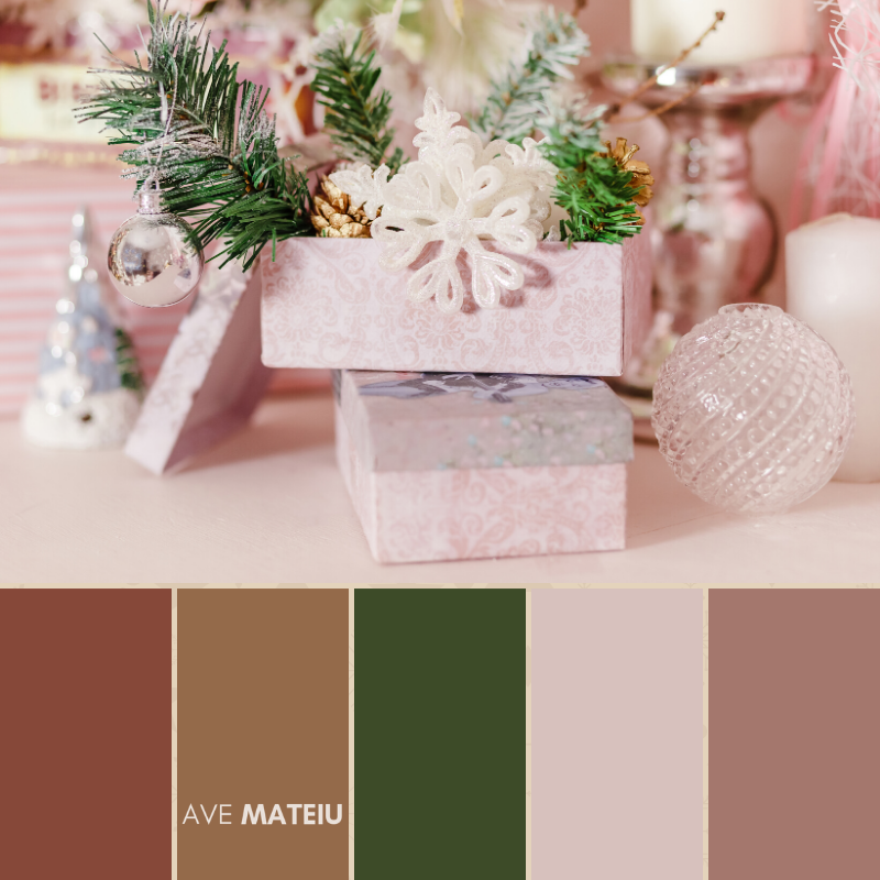 Christmas Color Palette #14 - Color combination, Color pallets, Color palettes, Color scheme, Color inspiration, Colour Palettes, Art, Inspiration, Bright, Background, Warm, Dark, Design, Yellow, Green, Orange, Red, Purple, Blue, Gold, Silver, Rose Gold, Rustic, Christmas 2019, Winter, Nature, Seasonal, Season, Natural