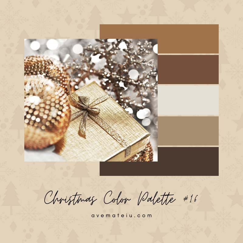 Christmas Color Palette #16 - Color combination, Color pallets, Color palettes, Color scheme, Color inspiration, Colour Palettes, Art, Inspiration, Bright, Background, Warm, Dark, Design, Yellow, Green, Orange, Red, Purple, Blue, Gold, Silver, Rose Gold, Rustic, Christmas 2019, Winter, Nature, Seasonal, Season, Natural