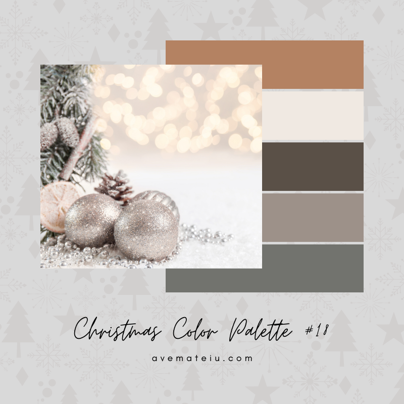 Christmas Color Palette #18 - Color combination, Color pallets, Color palettes, Color scheme, Color inspiration, Colour Palettes, Art, Inspiration, Bright, Background, Warm, Dark, Design, Yellow, Green, Orange, Red, Purple, Blue, Gold, Silver, Rose Gold, Rustic, Christmas 2019, Winter, Nature, Seasonal, Season, Natural