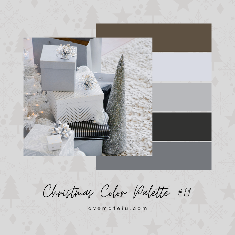 Christmas Color Palette #19 - Color combination, Color pallets, Color palettes, Color scheme, Color inspiration, Colour Palettes, Art, Inspiration, Bright, Background, Warm, Dark, Design, Yellow, Green, Orange, Red, Purple, Blue, Gold, Silver, Rose Gold, Rustic, Christmas 2019, Winter, Nature, Seasonal, Season, Natural