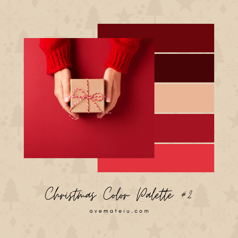 Christmas Color Palette #2 - Color combination, Color pallets, Color palettes, Color scheme, Color inspiration, Colour Palettes, Art, Inspiration, Bright, Background, Warm, Dark, Design, Yellow, Green, Orange, Red, Purple, Blue, Gold, Silver, Rose Gold, Rustic, Christmas 2019, Winter, Nature, Seasonal, Season, Natural
