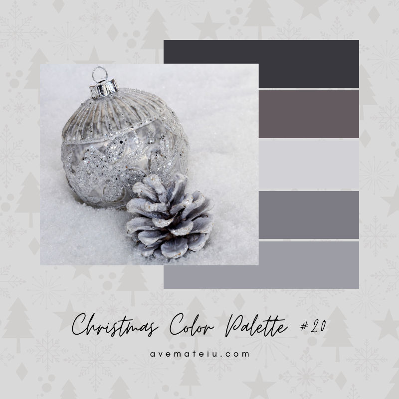 Christmas Color Palette #20 - Color combination, Color pallets, Color palettes, Color scheme, Color inspiration, Colour Palettes, Art, Inspiration, Bright, Background, Warm, Dark, Design, Yellow, Green, Orange, Red, Purple, Blue, Gold, Silver, Rose Gold, Rustic, Christmas 2019, Winter, Nature, Seasonal, Season, Natural