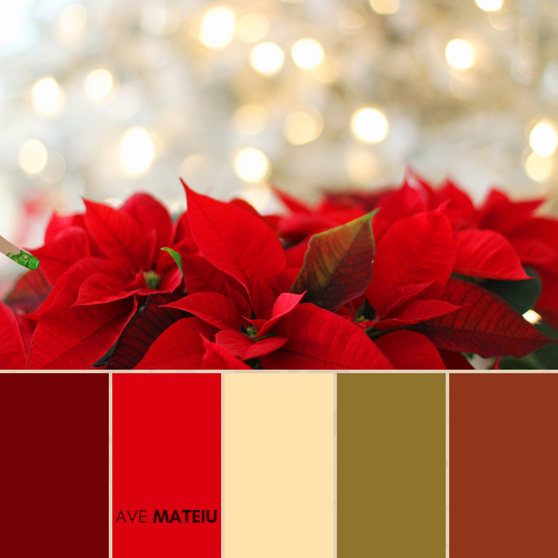 Christmas Color Palette #4 - Color combination, Color pallets, Color palettes, Color scheme, Color inspiration, Colour Palettes, Art, Inspiration, Bright, Background, Warm, Dark, Design, Yellow, Green, Orange, Red, Purple, Blue, Gold, Silver, Rose Gold, Rustic, Christmas 2019, Winter, Nature, Seasonal, Season, Natural