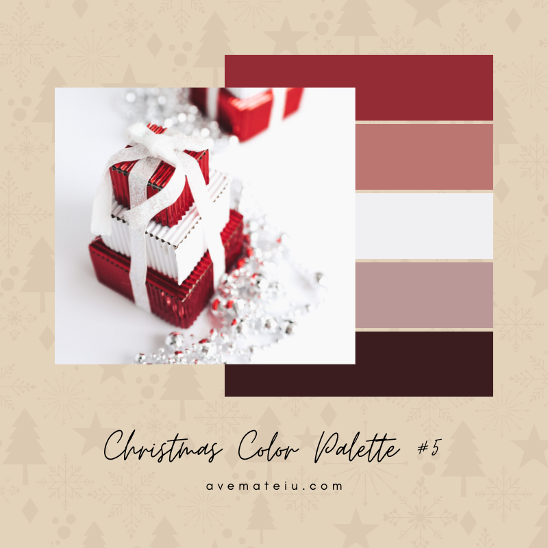 Christmas Color Palette #5 - Color combination, Color pallets, Color palettes, Color scheme, Color inspiration, Colour Palettes, Art, Inspiration, Bright, Background, Warm, Dark, Design, Yellow, Green, Orange, Red, Purple, Blue, Gold, Silver, Rose Gold, Rustic, Christmas 2019, Winter, Nature, Seasonal, Season, Natural