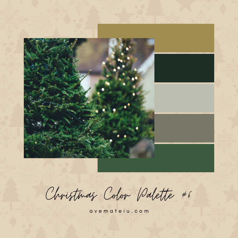 Christmas Color Palette #6 - Color combination, Color pallets, Color palettes, Color scheme, Color inspiration, Colour Palettes, Art, Inspiration, Bright, Background, Warm, Dark, Design, Yellow, Green, Orange, Red, Purple, Blue, Gold, Silver, Rose Gold, Rustic, Christmas 2019, Winter, Nature, Seasonal, Season, Natural
