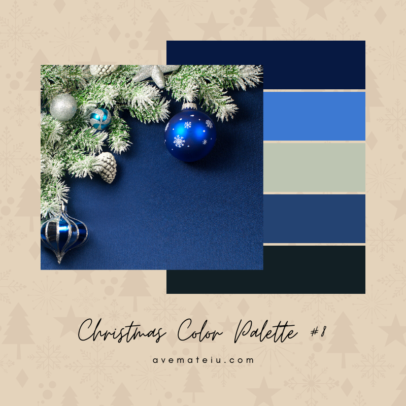 Christmas Color Palette #8 - Color combination, Color pallets, Color palettes, Color scheme, Color inspiration, Colour Palettes, Art, Inspiration, Bright, Background, Warm, Dark, Design, Yellow, Green, Orange, Red, Purple, Blue, Gold, Silver, Rose Gold, Rustic, Christmas 2019, Winter, Nature, Seasonal, Season, Natural