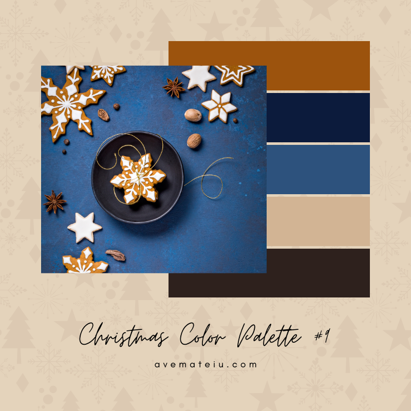 Christmas Color Palette #9 - Color combination, Color pallets, Color palettes, Color scheme, Color inspiration, Colour Palettes, Art, Inspiration, Bright, Background, Warm, Dark, Design, Yellow, Green, Orange, Red, Purple, Blue, Gold, Silver, Rose Gold, Rustic, Christmas 2019, Winter, Nature, Seasonal, Season, Natural
