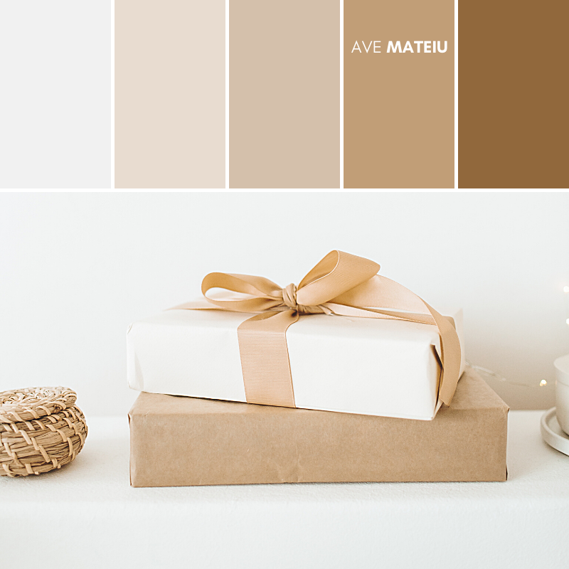 Minimalist Gift Presents Color Palette #380 - Summer 2020, color palette, color palettes, colour palettes, color scheme, color inspiration, color combination, art tutorial, collage, digital art, canvas painting, wall art, home painting, photography, weddings by color, inspiration, vintage, wallpaper, background, rustic, seasonal, season, natural, nature