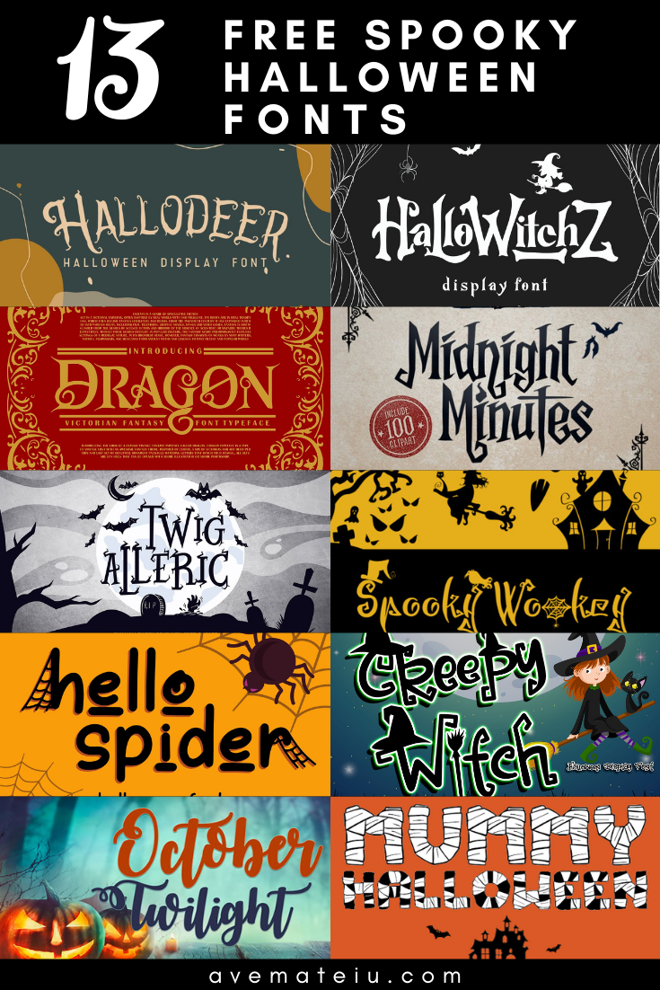 13 Free Spooky Halloween Fonts 2020 - Art, Fonts and Calligraphy, Typography, Handwritten Fonts, Alphabet Fonts, Free Fonts, Script Fonts, Modern Fonts, Cursive Fonts, Design Fonts, Rustic Fonts, Calligraphy Fonts, Simple Fonts, Serif Fonts, Elegant Fonts, Professional Fonts, Beautiful Fonts